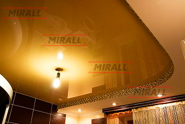 Фотографии натяжных потолков в ванной